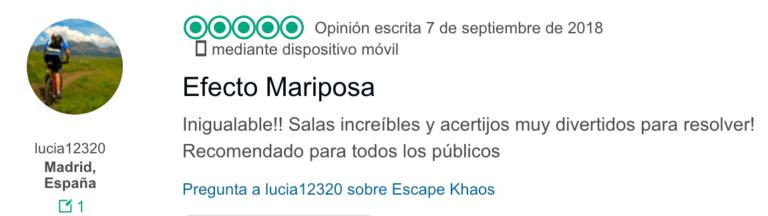 Opinion Efecto Mariposa 2