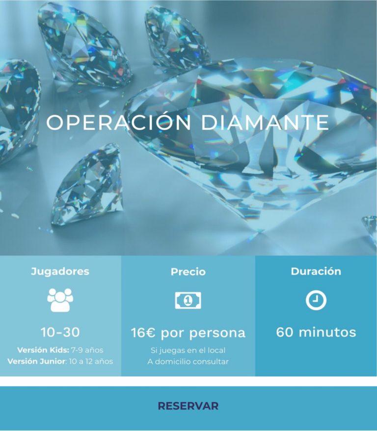 Operacion diamante escape room niños